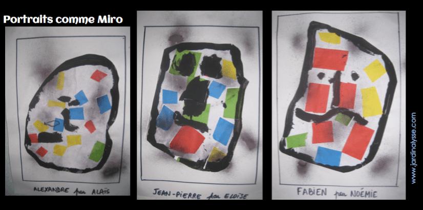 portraits comme Miro