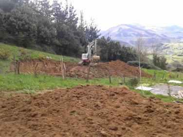 Nivelado y preparación de terreno. Movimeinto de tierras en Donostia.