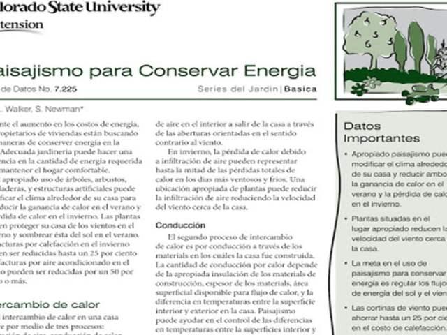 Paisajismo para Conservar Energia