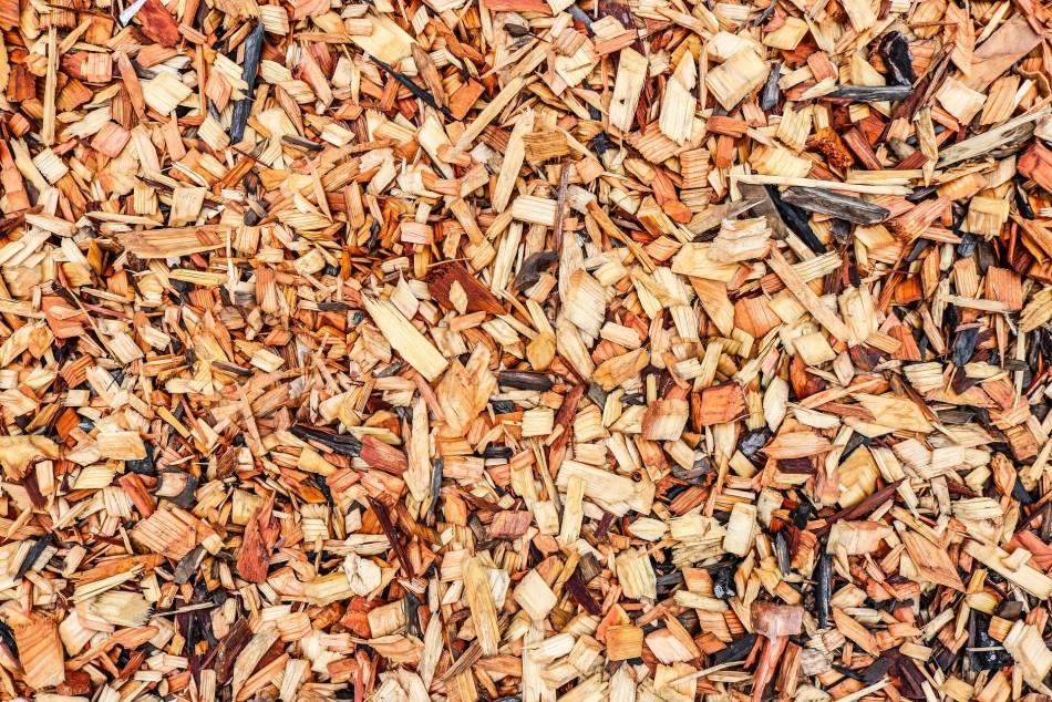 Paillis de copeaux de bois