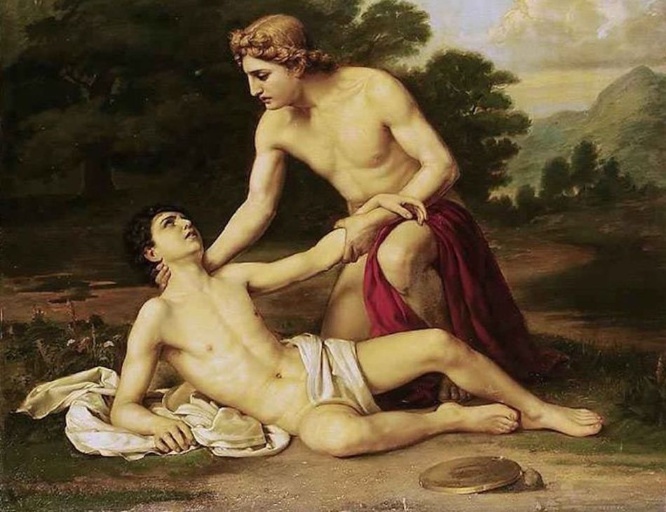 Painting of Adonis and Hyacinth