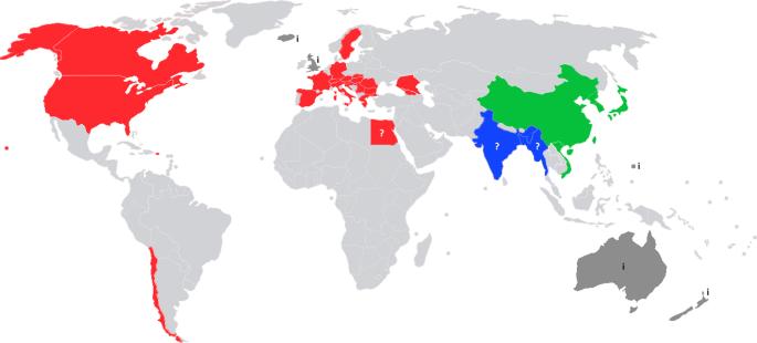 Carte montrante la distribution de la punaise marbrée