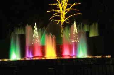 Spectacle de fontaines dans l'amphithéâtre