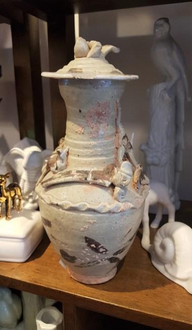 ARCHEOLOGIE : Urne en terre cuite funéraire (Datation 1127-1278), Song du Sud, CHINE - Prix de vente : sur demande.