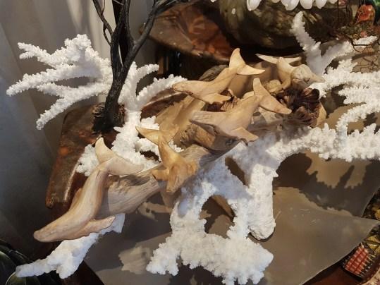 Banc de baleines en bois flotté disposée sur une souche de bois flotté, INDONESIE – Prix de vente : 30€.