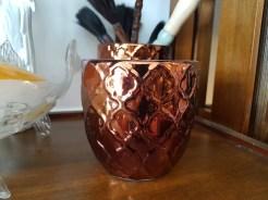 Cache-pot « Shiraz » en céramique et glaçure, INDE – Prix de vente : 10€.