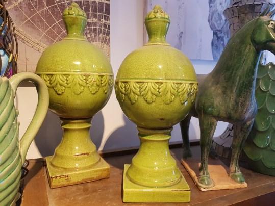 Boule style Néoclassique en céramique et glaçure, CHINE – Prix de vente : 70€.