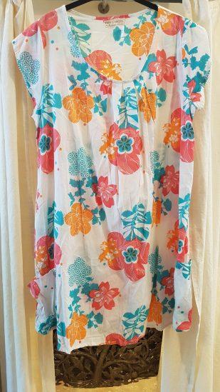 "Robe ""Floral"" en voile de coton imprimé, INDE - Prix de vente : 40€."