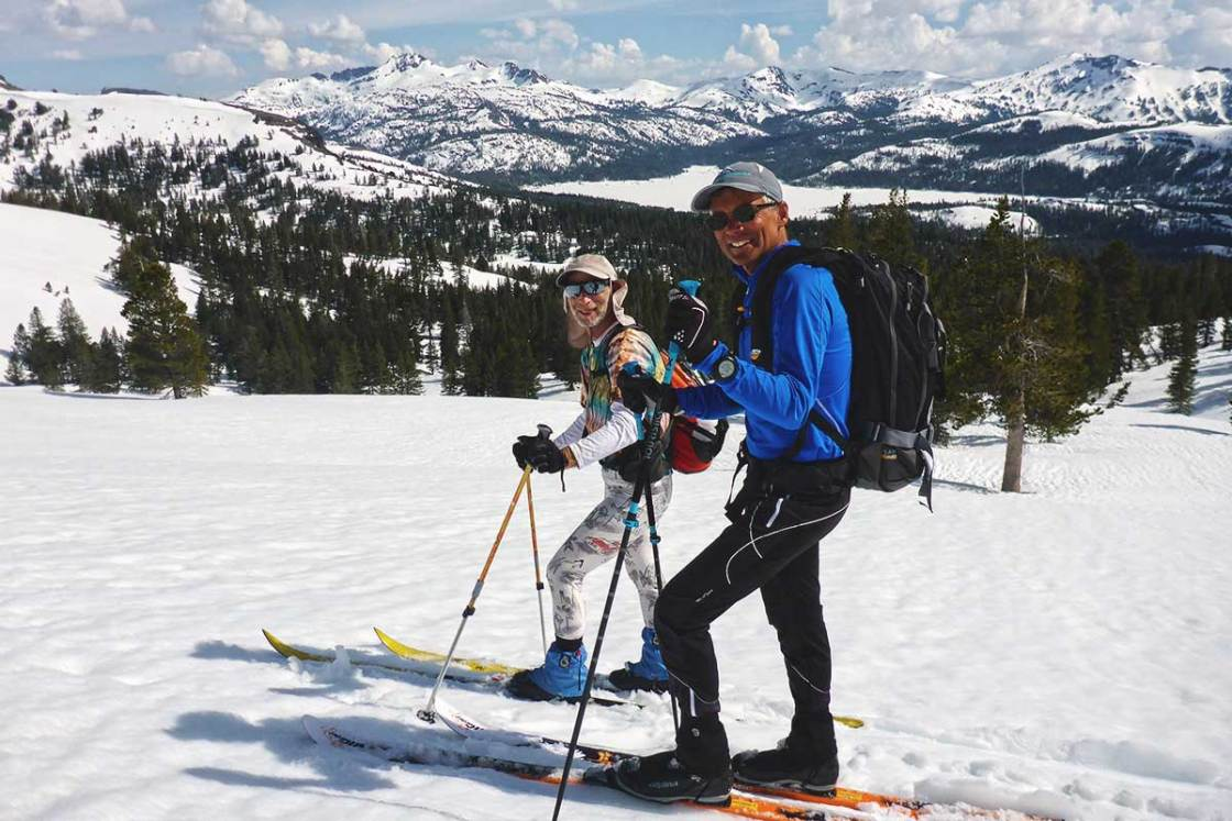 Cross-country skiing the Echo to Kirkwood race route