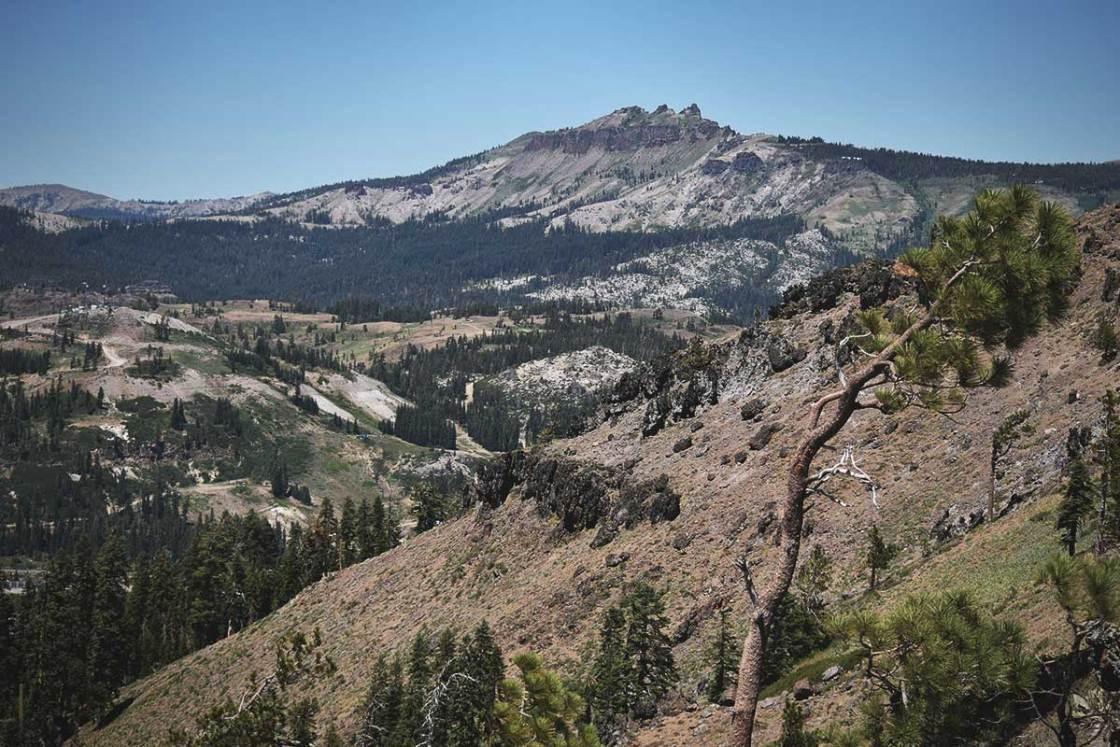Castle Peak viewed from the trail to Mount Judah