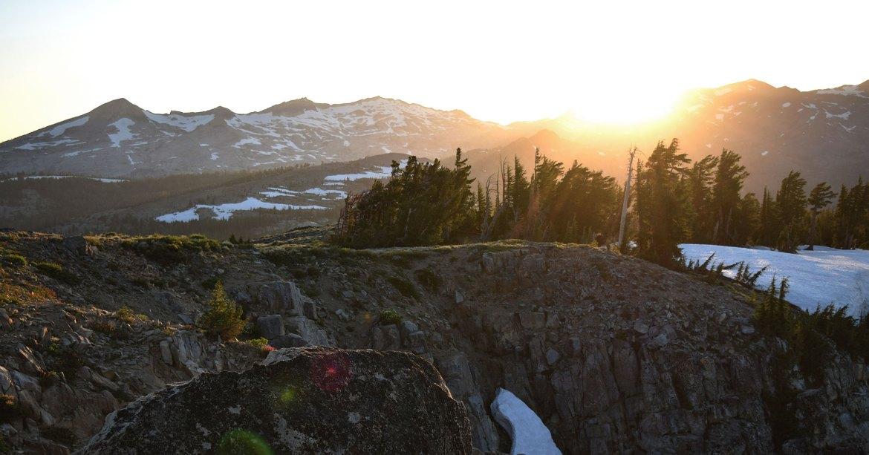 Sun setting over Desolation Wilderness