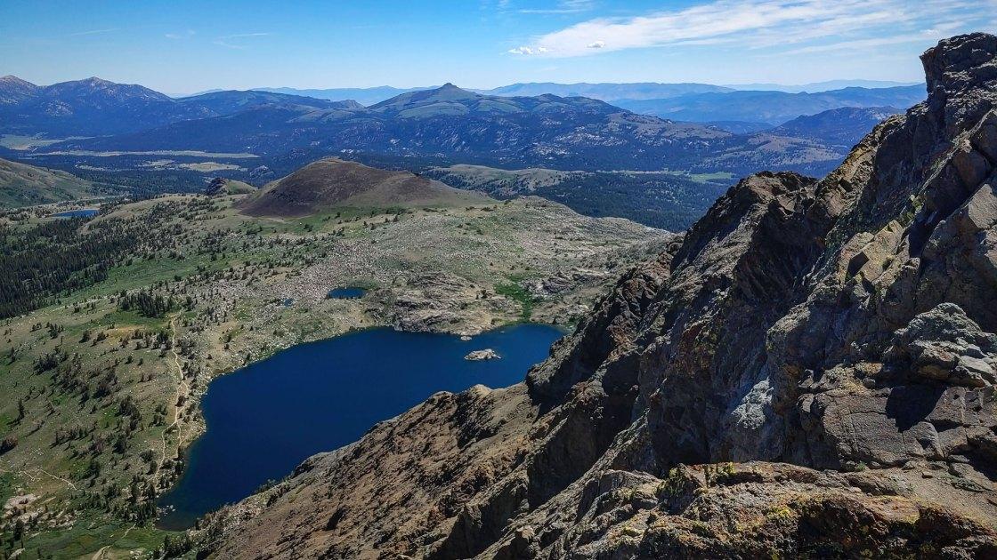 Mountain range and alpine lakes