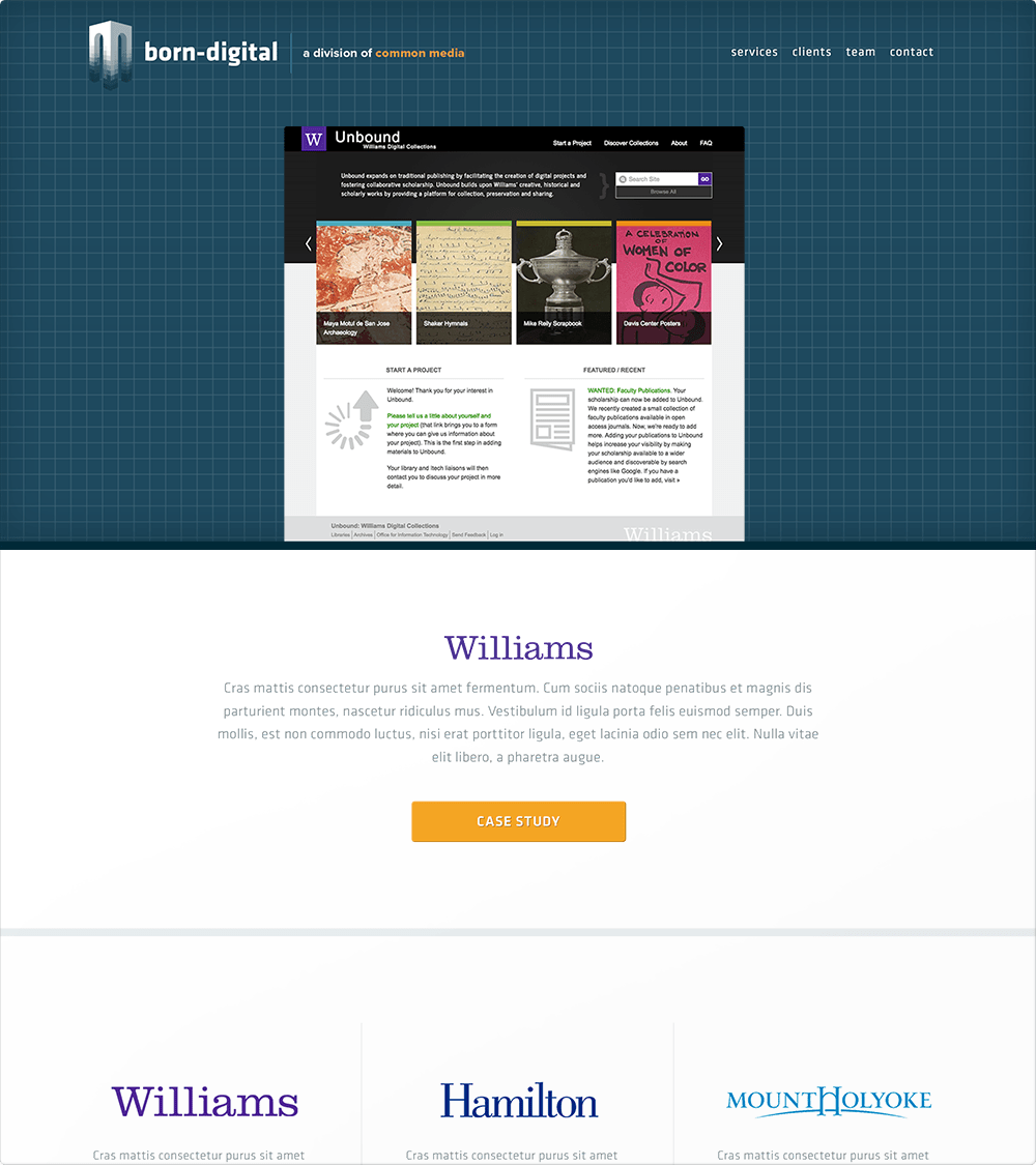 born-digital Home Page