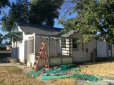 """Tearing the old roof off the back """"porch."""" (9/18)"""