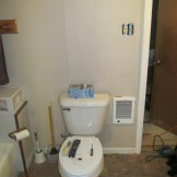 Put a electric wall heater in the bathroom. Yay for warmer showering this winter! (4/19)