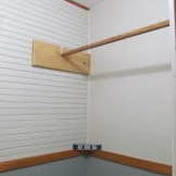 Worked on the year old closet renovation: drywall, paint, beadboard, trim...