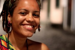 Bárbara Leoa is a capoeirista and an incredibly talented singer performing for rodas da capoeira. Salvador, Bahia, Brazil, January 2014
