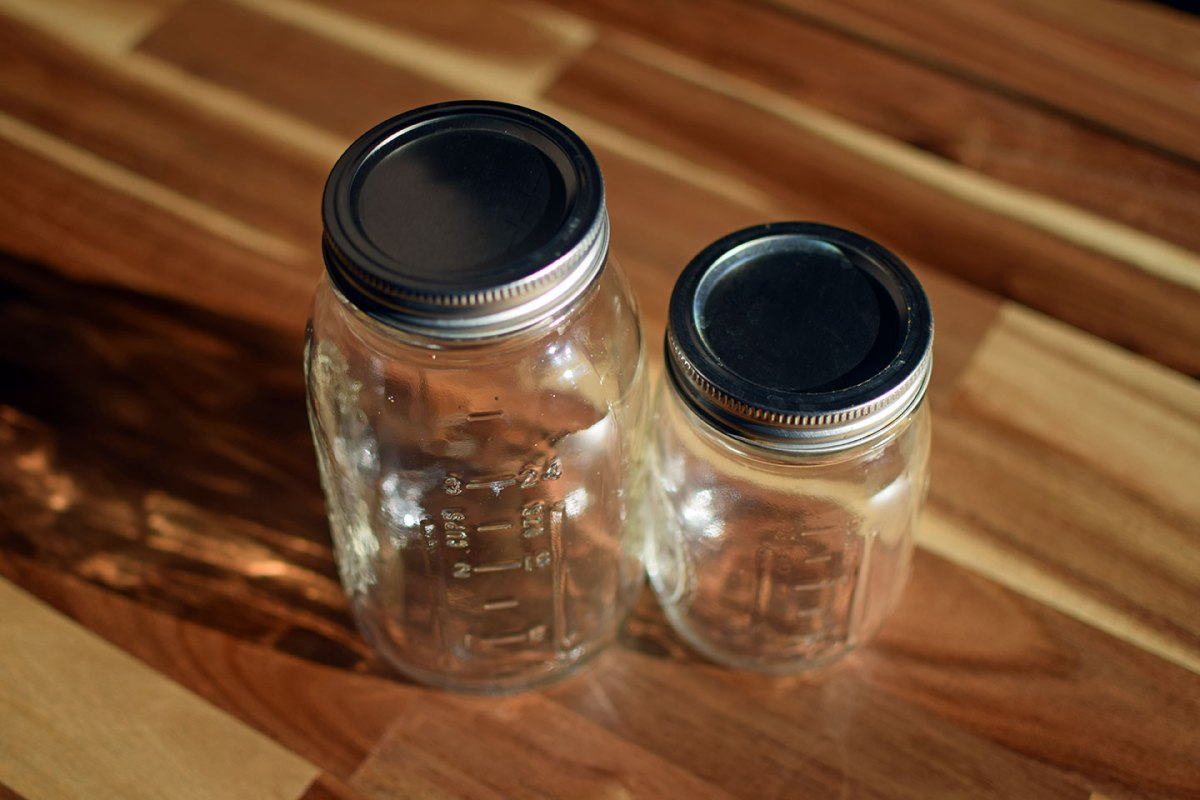 Image of Mason Jars in two sizes