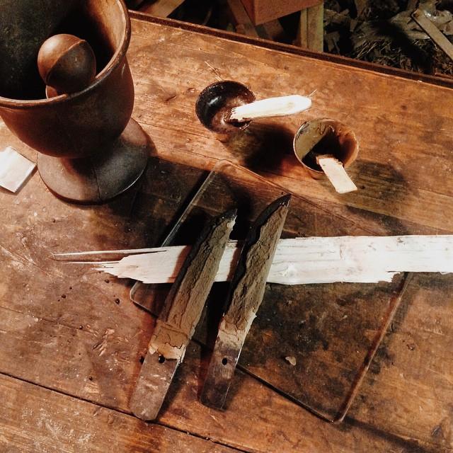 Härdning av tantoblad, enligt yaki-ire metod, första omgången-ire