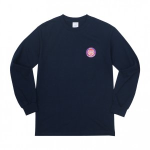 WHIMSY / POISONOUS GAME L/S TEE (NAVY)