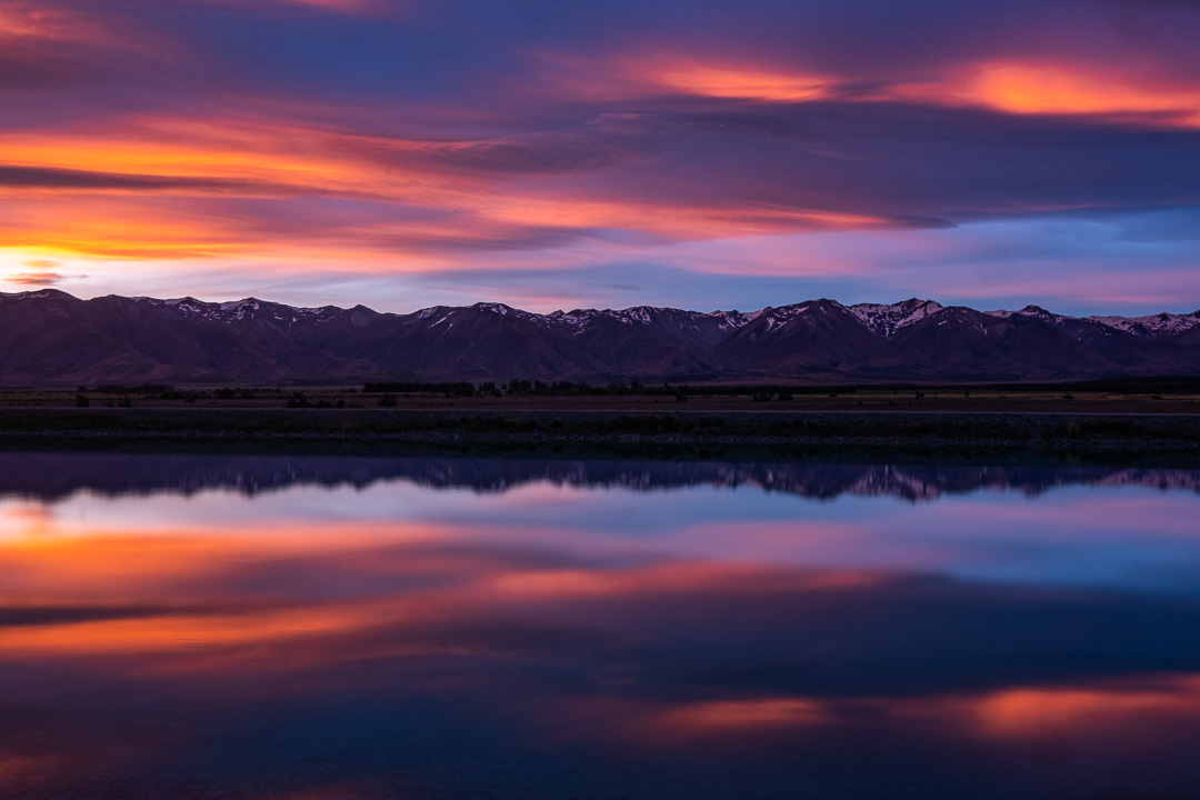 Fine Art Photography - Glowing sunset over Mt Cook National Park