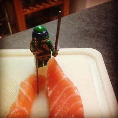 Etape 9 - la découpe du saumon