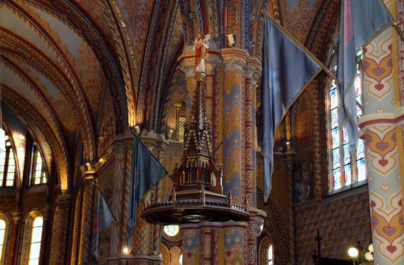 above pulpit