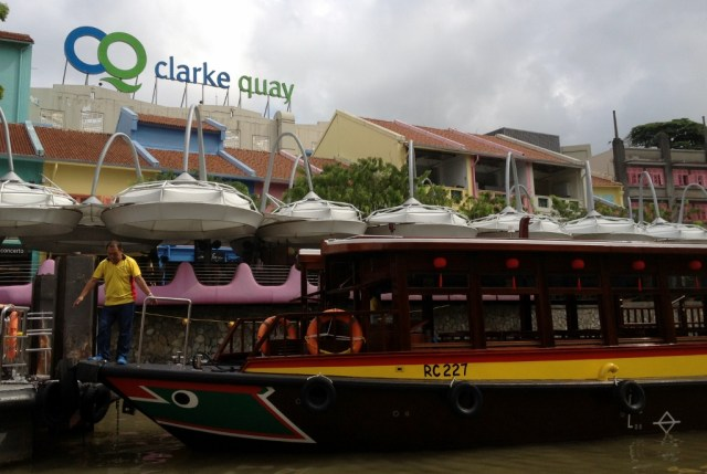 The river cruise began in Clarke Quay