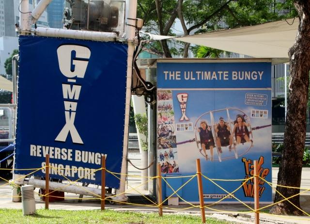 Reverse bungee ride