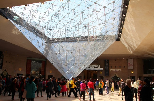 Louvre Inverted pyramid lobby