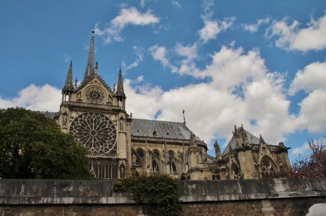 Notre Dame Rose Window from Seine River