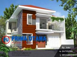 Design Rumah Minimalis Elegan 2 Lantai Bp. Riyanto di Palur Solo