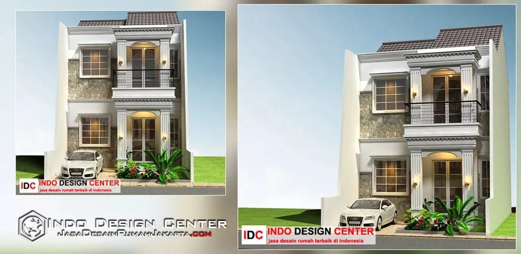 desain rumah minimalis 2 lantai konsep mediterania jasa