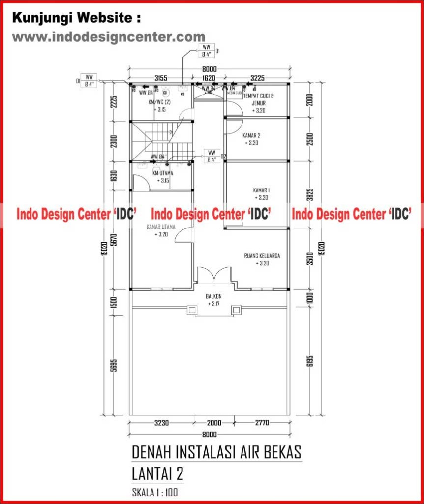 019 denah instalasi air bekas lantai 1 arsip jasa desain