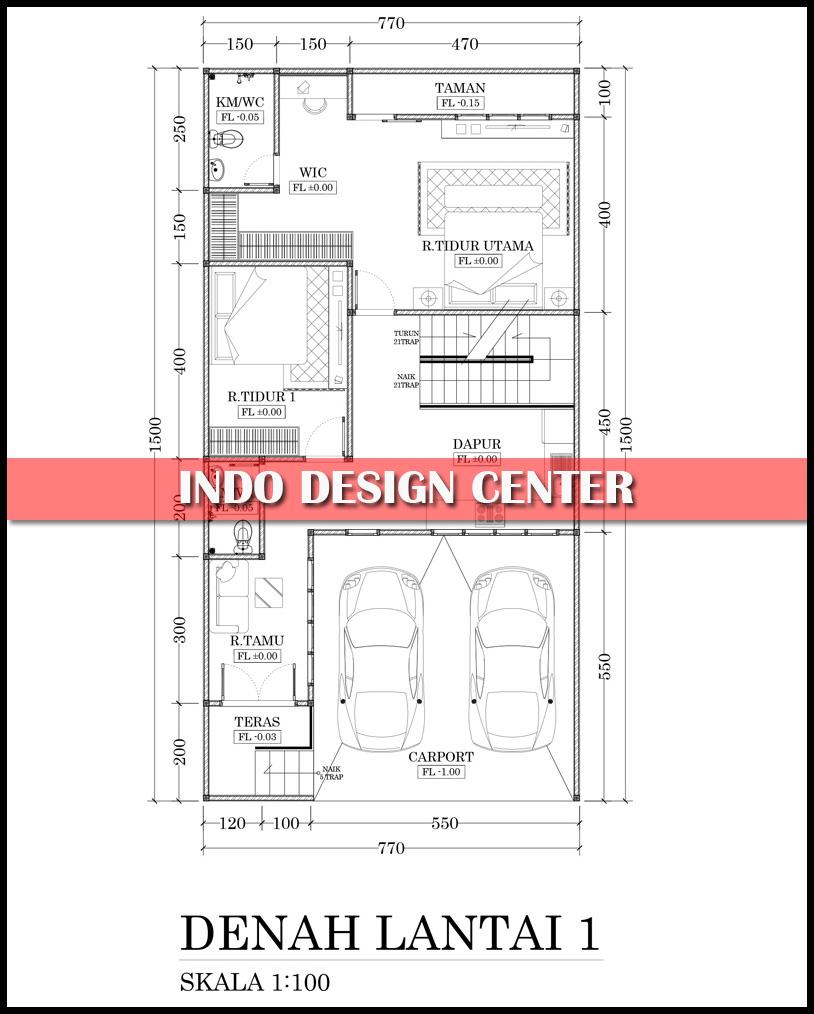 Jasa Desain Ruang Kantor Tangerang: Denah Rumah Semi Basement Arsip