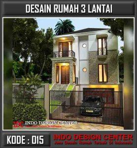 Desain Rumah 3 Lantai Pak Waluyo Di Surabaya