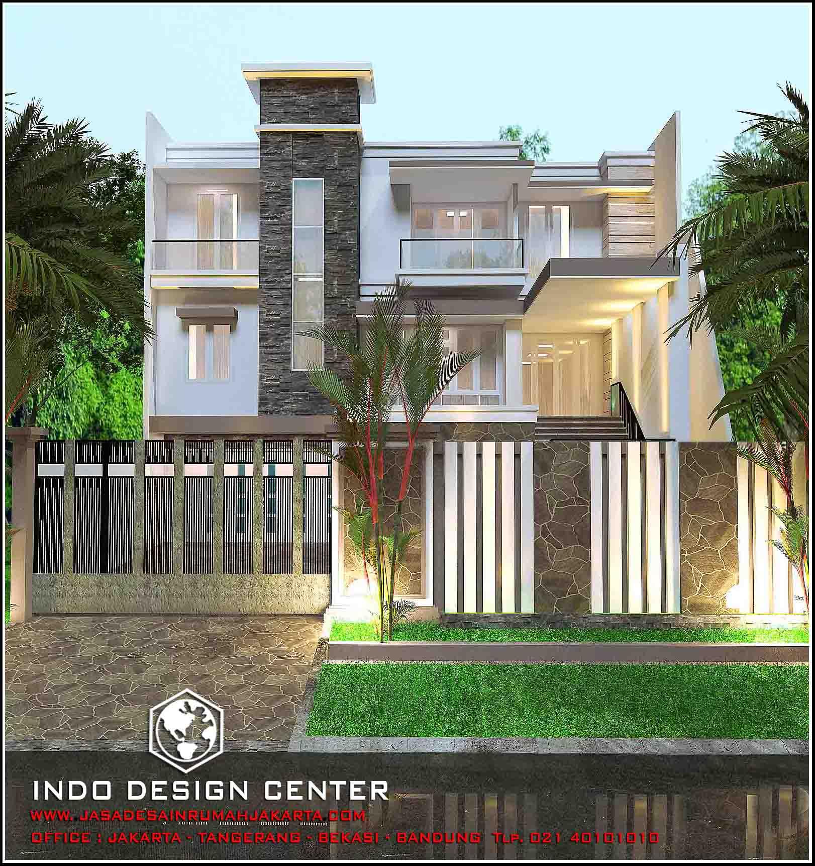 Interior kantor minimalis tropis 3 lantai - Model Rumah Minimalis 3 Lantai Tampak Minimalis 2 Lantai View 002