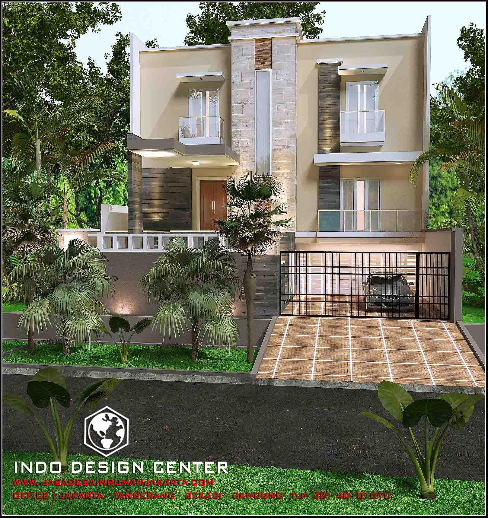 Interior kantor minimalis tropis 3 lantai - Rumah Minimalis 3 Lantai Tampak 2 Lantai Karya Arsitek Idc