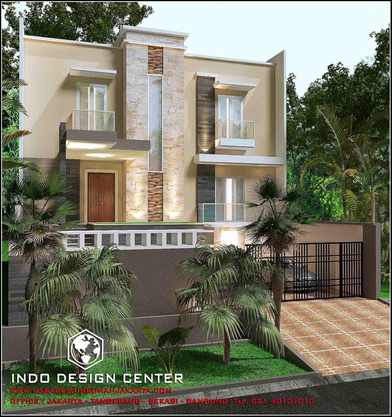 Rumah Minimalis 3 Lantai Tampak 2 Lantai Karya Arsitek IDC