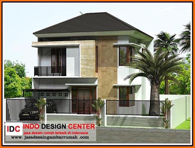 82 desain rumah mewah minimalis modern 2 lantai model