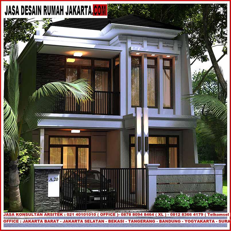 Jasa Desain Rumah Minimalis Di Depok: Desain Rumah Lebar 7 X 15 Minimalis Elegan Mewah 2 Lantai