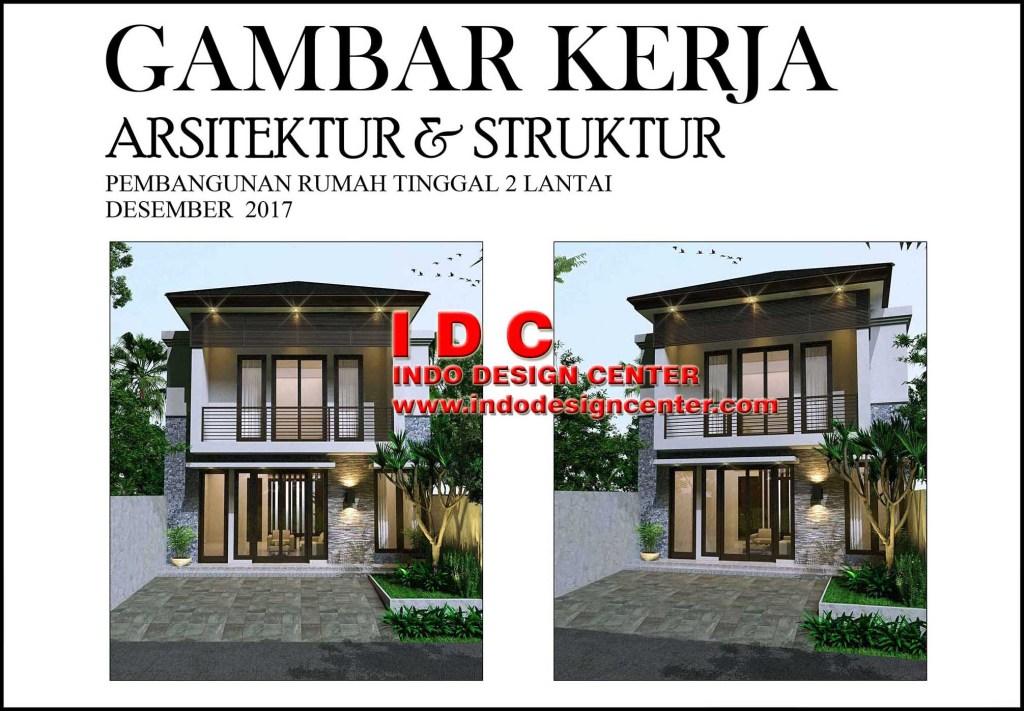 Contoh Gambar Kerja Lengkap Rumah Minimalis 2 Lantai Indo Design Center