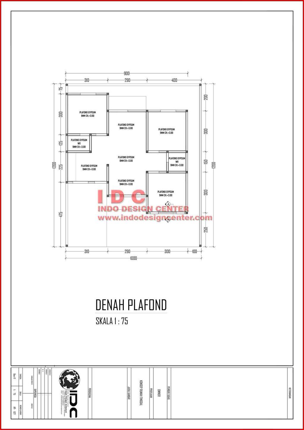 Gambar Kerja Rumah Tinggal Type 60 Hal 027 Jasa Desain Rumah Online