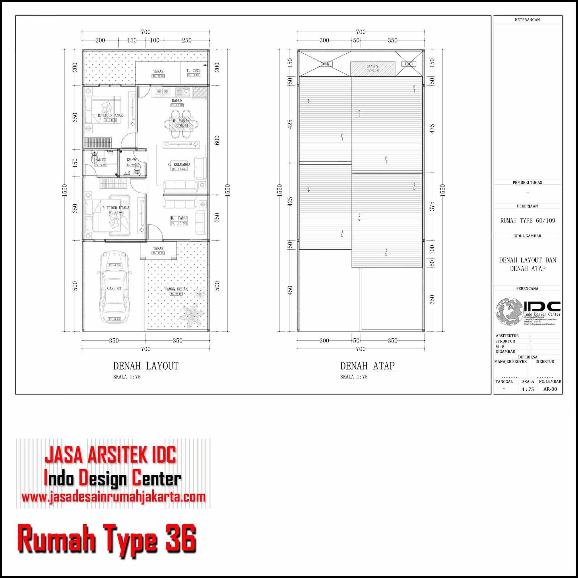 Gambar Rumah Type 36 Jasa Arsitek Rumah Minimalis Murah ...