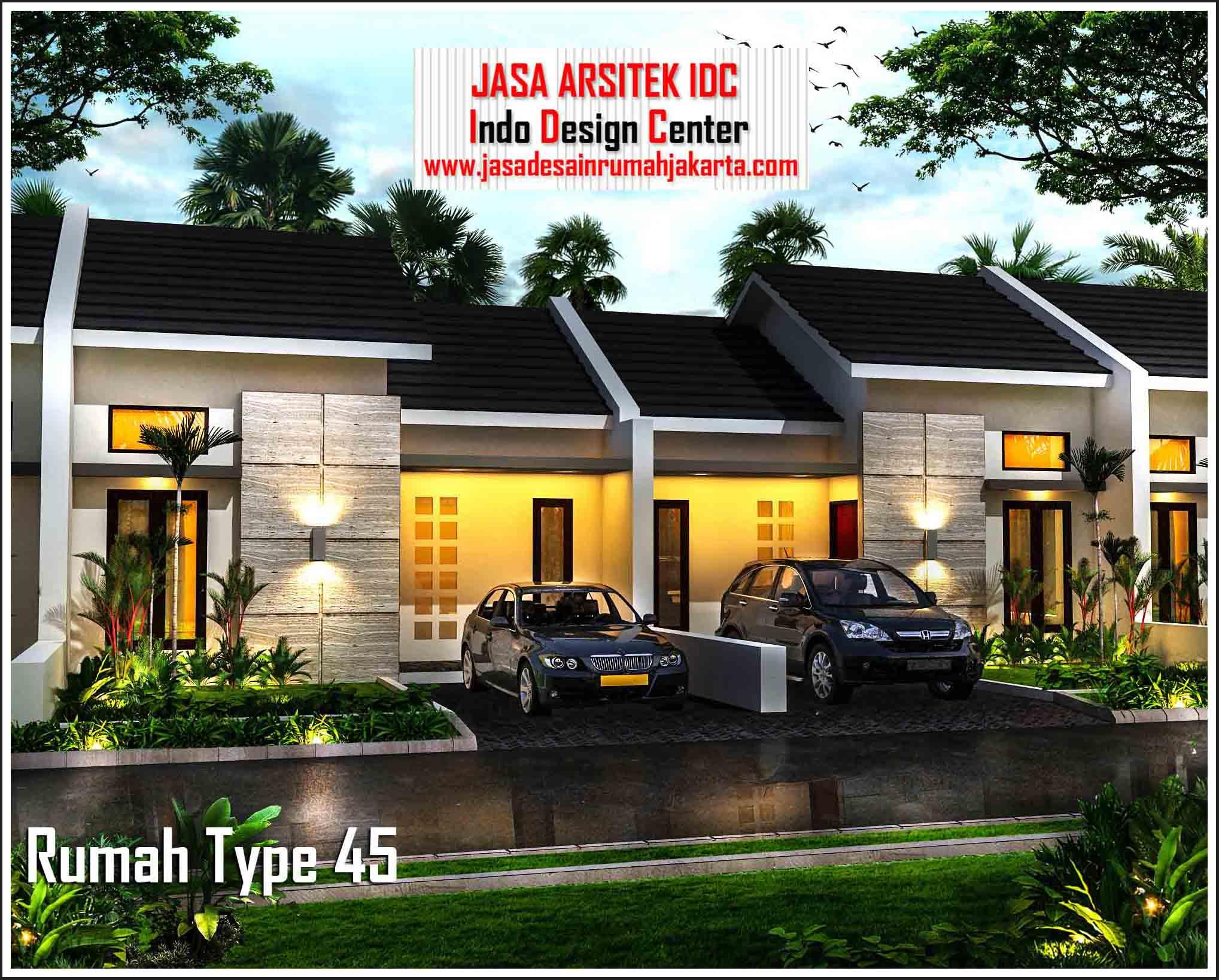 Desain Rumah Minimalis Modern 1 Lantai Type 45 Terbaru ...