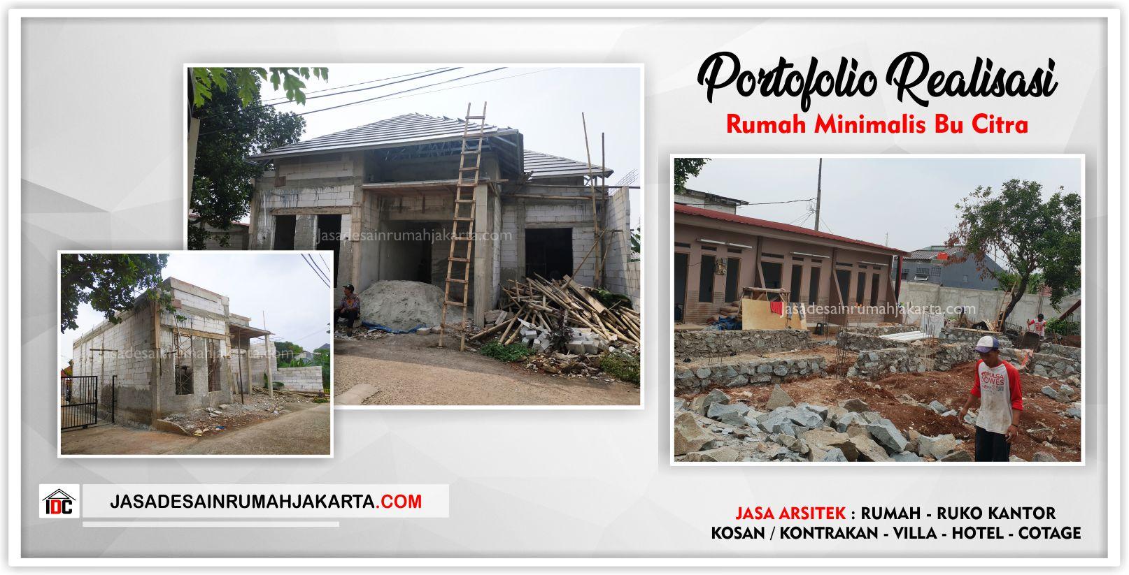 Portofolio Realisasi Bangun Rumah Bu Citra - Arsitek Gambar Desain Rumah Klasik Modern Di Jakarta-Bekasi-Surabaya-Tangerang-Bandung-Jasa Konsultan Desain Arsitek Profesional