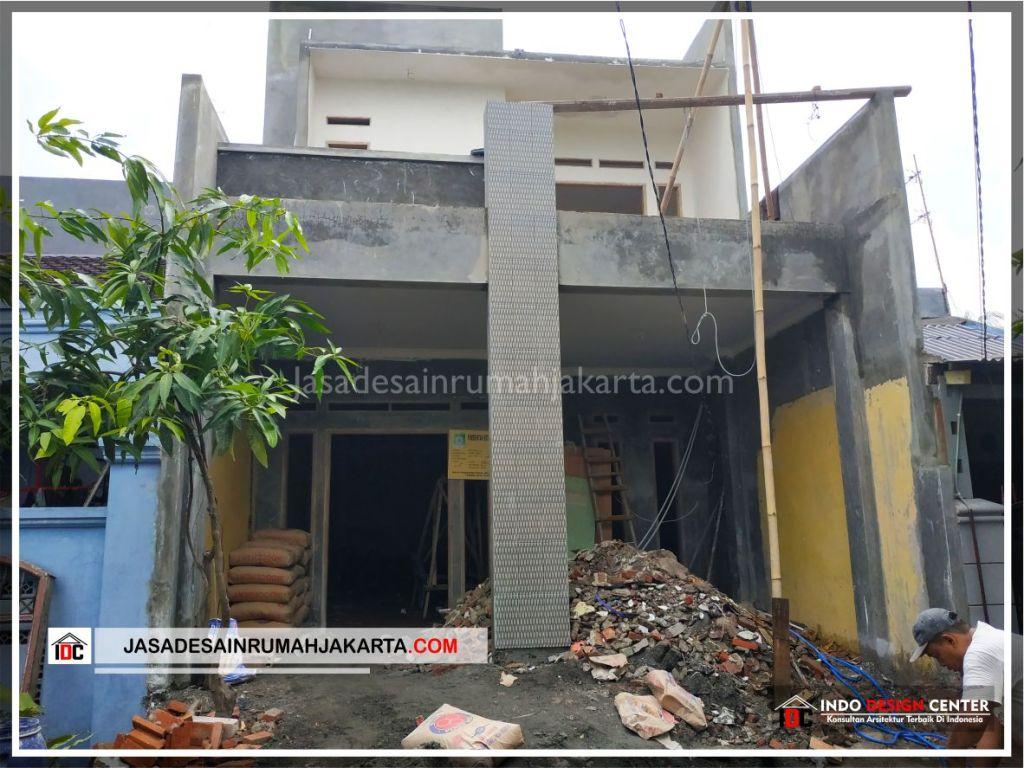 Tampak Depan Rumah Bpk Tarsi-Arsitek Gambar Desain Rumah Minimalis Modern Di Tangerang-Jakarta-Surabaya-Bekasi-Bandung-Jasa Konsultan Desain Arsitek Profesional 2