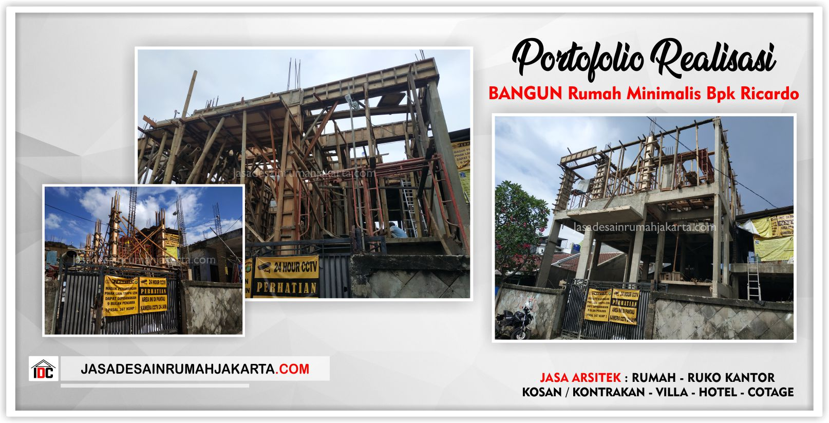 Portofolio Realisasi Rumah Bpk Ricardo-Arsitek Gambar Desain Rumah Minimalis Modern Di Tangerang-Jakarta-Surabaya-Bekasi-Bandung-Depok-Jasa Konsultan Desain Arsitek