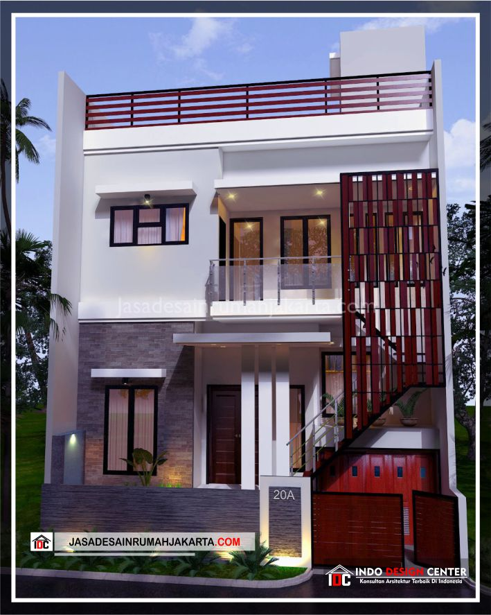 Rencana Desain Rumah Bpk Ricardo-Arsitek Gambar Desain Rumah Minimalis Modern Di Jakarta-Tangerang-Surabaya-Bekasi-Bandung-Depok-Jasa Konsultan Desain Arsitek 2