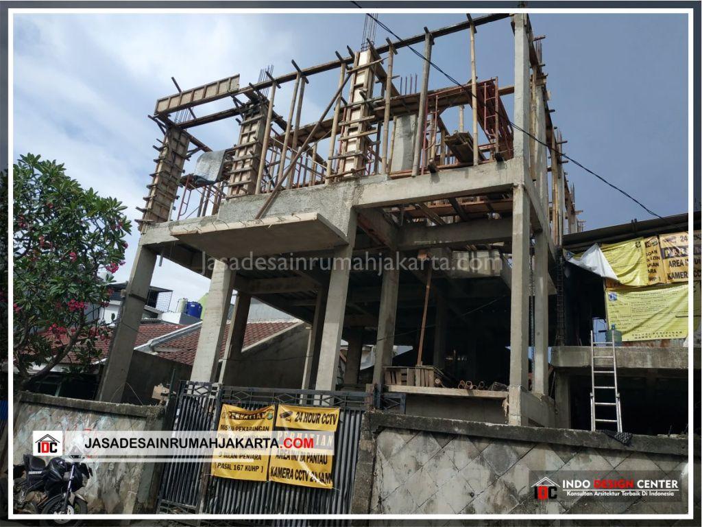 Tampak Depan Rumah Bpk Ricardo-Arsitek Gambar Desain Rumah Minimalis Modern Di Jakarta-Tangerang-Surabaya-Bekasi-Bandung-Depok-Jasa Konsultan Desain Arsitek 1